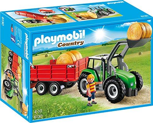 Playmobil großer traktor mit anhänger amazon spielzeug