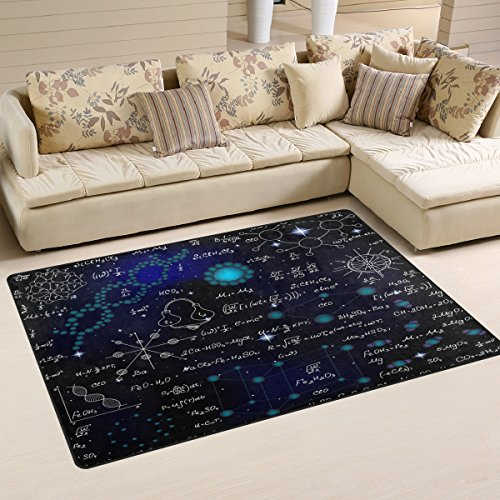Chihuahua Formula - WOZO Chemistry Scientific Formula Area Rug Rugs Non-Slip Floor Mat Doormats Living Room Bedroom 31 x 20 inches