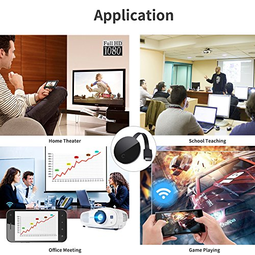 2018 YEHUA WiFi Display Dongle HDMI 1080P TV Receiver Adapter Mirroring Screen from Phone to Big Screen Support Miracast Airplay DLNA TV Stick for Android/Mac/ iOS/Windows. by Yehua (Image #5)