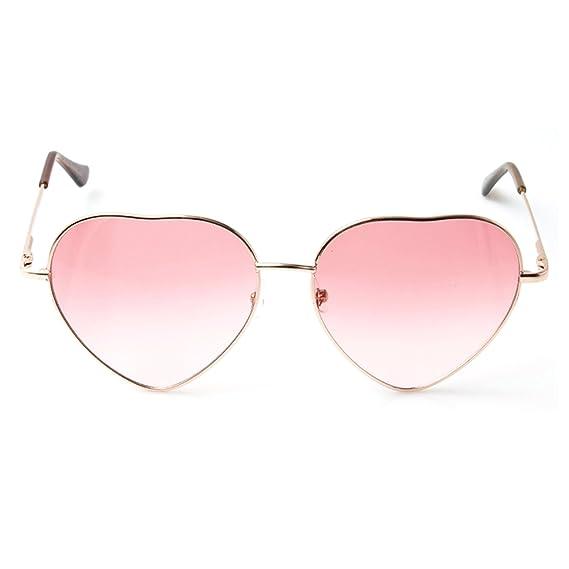 Accessoryo - Metallrahmen Herzform rosa revo Linsen Sonnenbrille der Frauen V5NByAo1DC