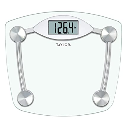 Amazon.com: Taylor Glass and Chrome Digital Scale - Set of 2: Health & Personal Care