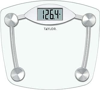 Taylor Precision Glass & Chrome Digital Bath Scale 7506