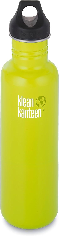 Klean Kanteen 27 oz Stainless Steel Water Bottle with Loop Cap in Black