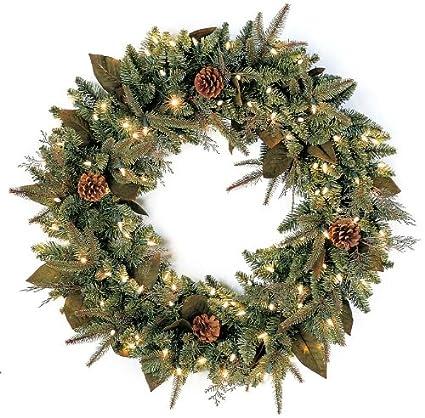 bethlehem lighting gki pre lit 30 inch pepvc christmas christmas wreath with