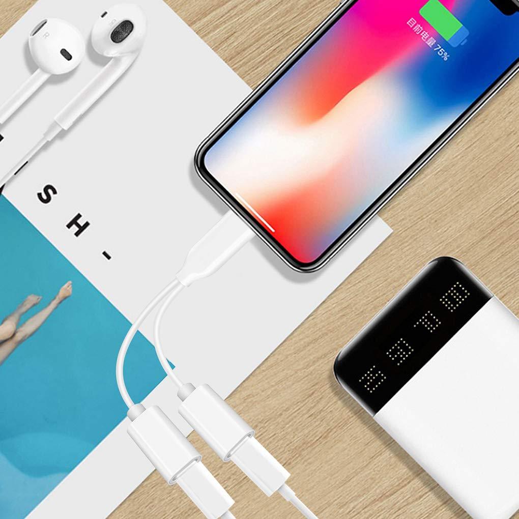 Adaptateur de Casque pour iPhone 8 Convertisseur 4 en 1 Adaptateur pour iPhone 8//8 Plus//X //7 Plus de Charge Audio Supporte IOS11 ou Plus Adaptateur Audio + Charge + Appel + Volume Contr/ôle