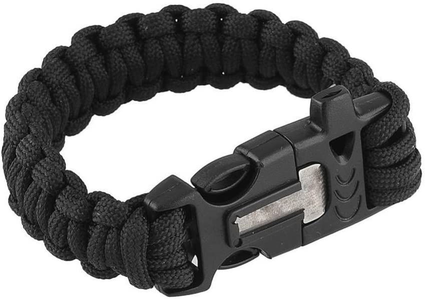 cuchillo steinbock7//® supervivencia pulsera de 16/en 1 Multi Tool br/újula term/ómetro Paracord pedernal silbato