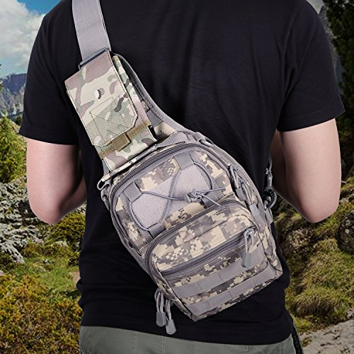 Hiking Hiking HuijukonTactical Molle Accessory Pouch Smartphone Strap Pack Backpack Shoulder Strap Pouch Pockets for Backpacking Khaki Camping