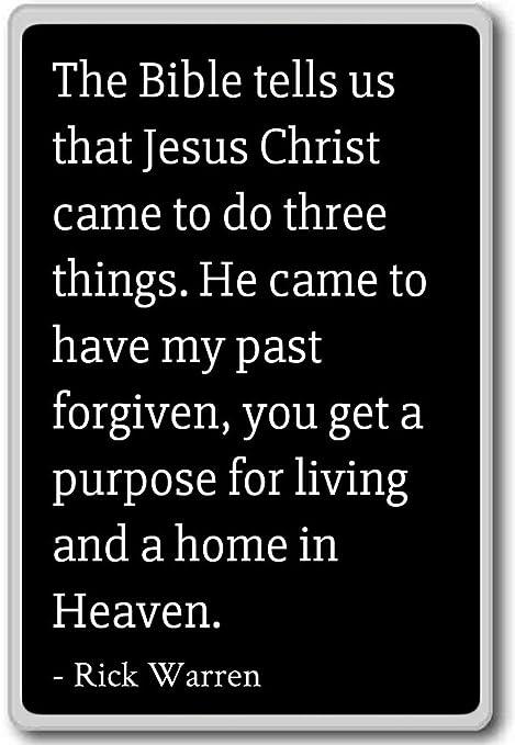 La Biblia nos dice que Jesucristo vino a hacer. Imán para nevera ...