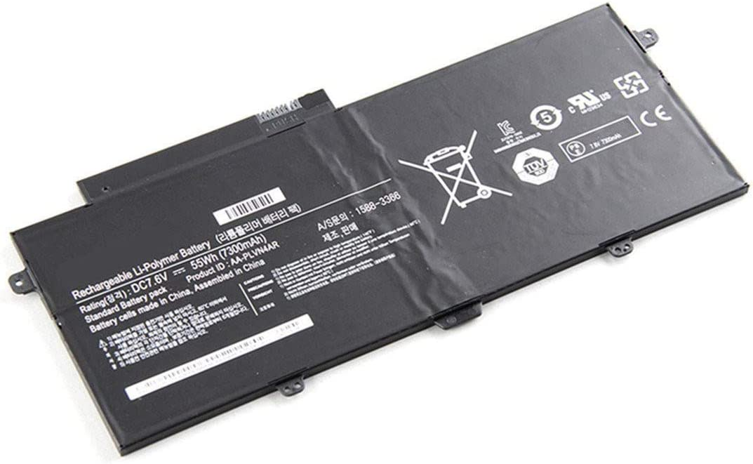 7XINbox 7.6V 55WH AA-PLVN4AR Replacement Laptop Battery for Samsung 940X3G NP940X3G Series 1588-3366 BA43-00364A