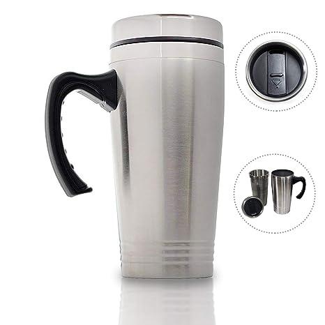 Amazon.com: Tazas de café con asa, de acero inoxidable de 15 ...