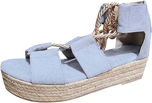Amazon.com: Swiusd zapatos mujer hueco gladiador sandalias ...