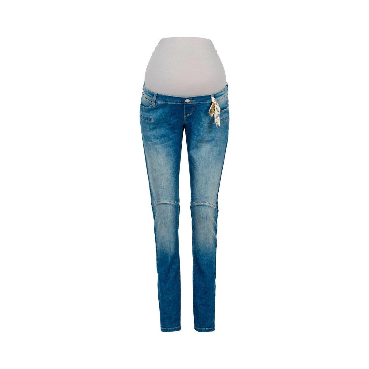 2HEARTS Umstands-Jeans Denim Blau/Umstandshose / Schwangerschaftshose/Umstandsmode / Jeans für Werdende Mamas