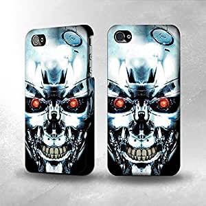 iphone covers Apple Iphone 5 5s Case - The Best 3D Full Wrap iPhone Case - Terminator Robot Skull