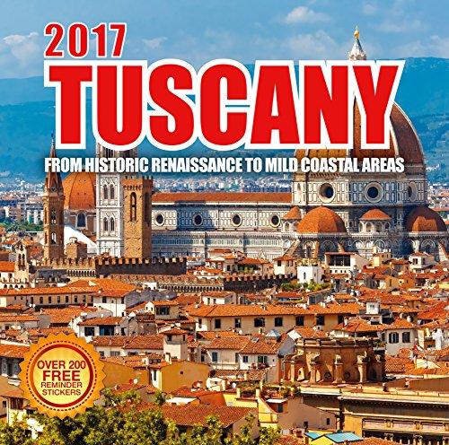 2017 Tuscany Calendar - 12 x 12 Wall Calendar - 210 Free Reminder Stickers