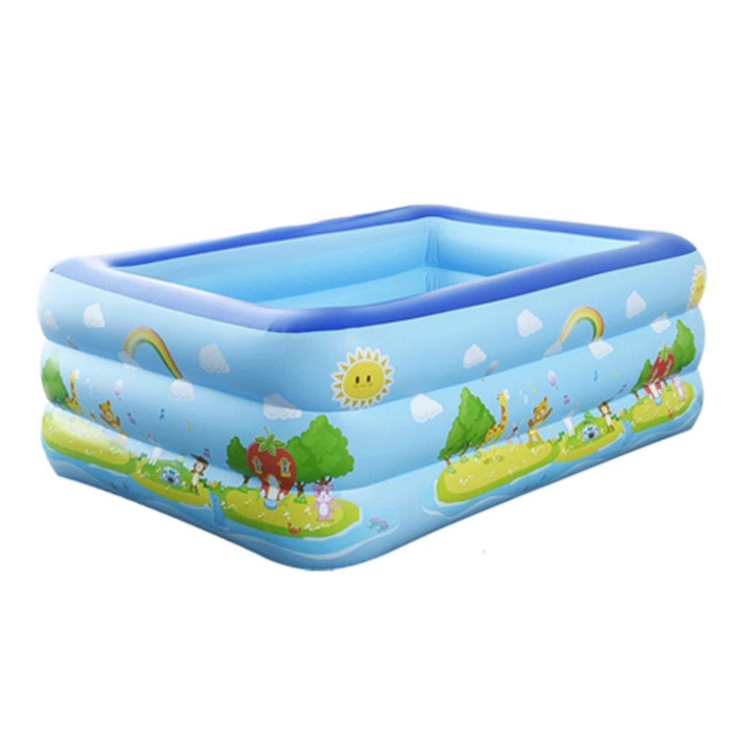 YONGYONG Household Inflatable Bathtub Adult Tub PVC Thick Warm Folding Bucket 125cm*88cm*55cm, 150cm*100cm*53cm, 160cm*115cm*56cm (Color : Blue, Size : 150cm*100cm*53cm)