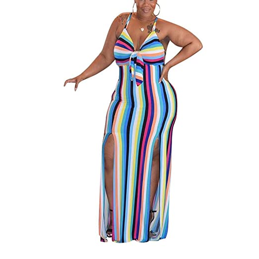 50d1f30207b0 AcelynWomen s Sexy Spaghetti Strap Striped High Waist Wide Leg Long Pants  Palazzo Jumpsuit Rompers Ladies Outfits