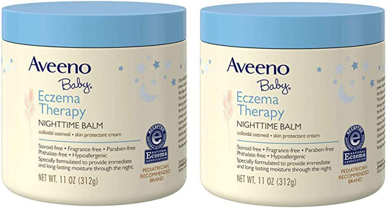 Aveeno Baby Eczema Therapy Nighttime Balm with Natural Colloidal Oatmeal for Eczema Relief, 11 oz. (2 Pack)