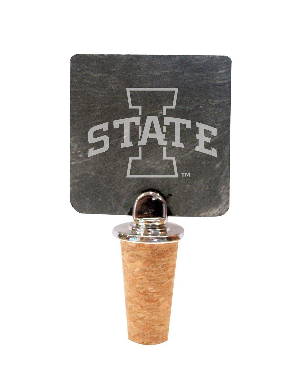 Iowa State Slate Bottle Stopper