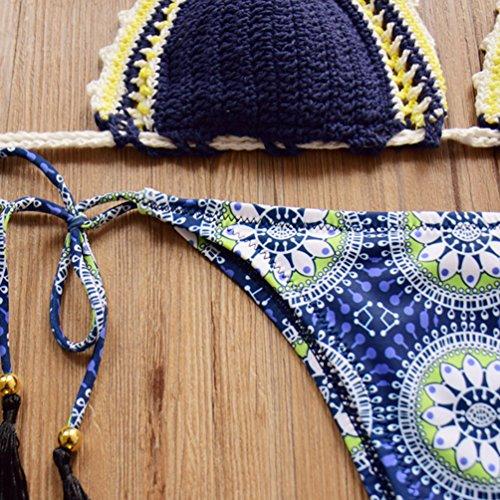 WanYang Mujeres Spaghetti Straps Trajes De Baño Bikini Push Up Sujetador Bañador Playa Traje De Baño Style #1