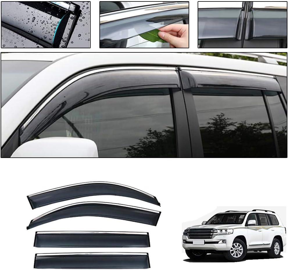 Saitake Windabweiser Für Toyota Land Cruiser Lc200 2008 2019 4pcs Autofenster Visier Sonne Regen Rauchabzug Schatten Klebeband Außenvisiere Auto
