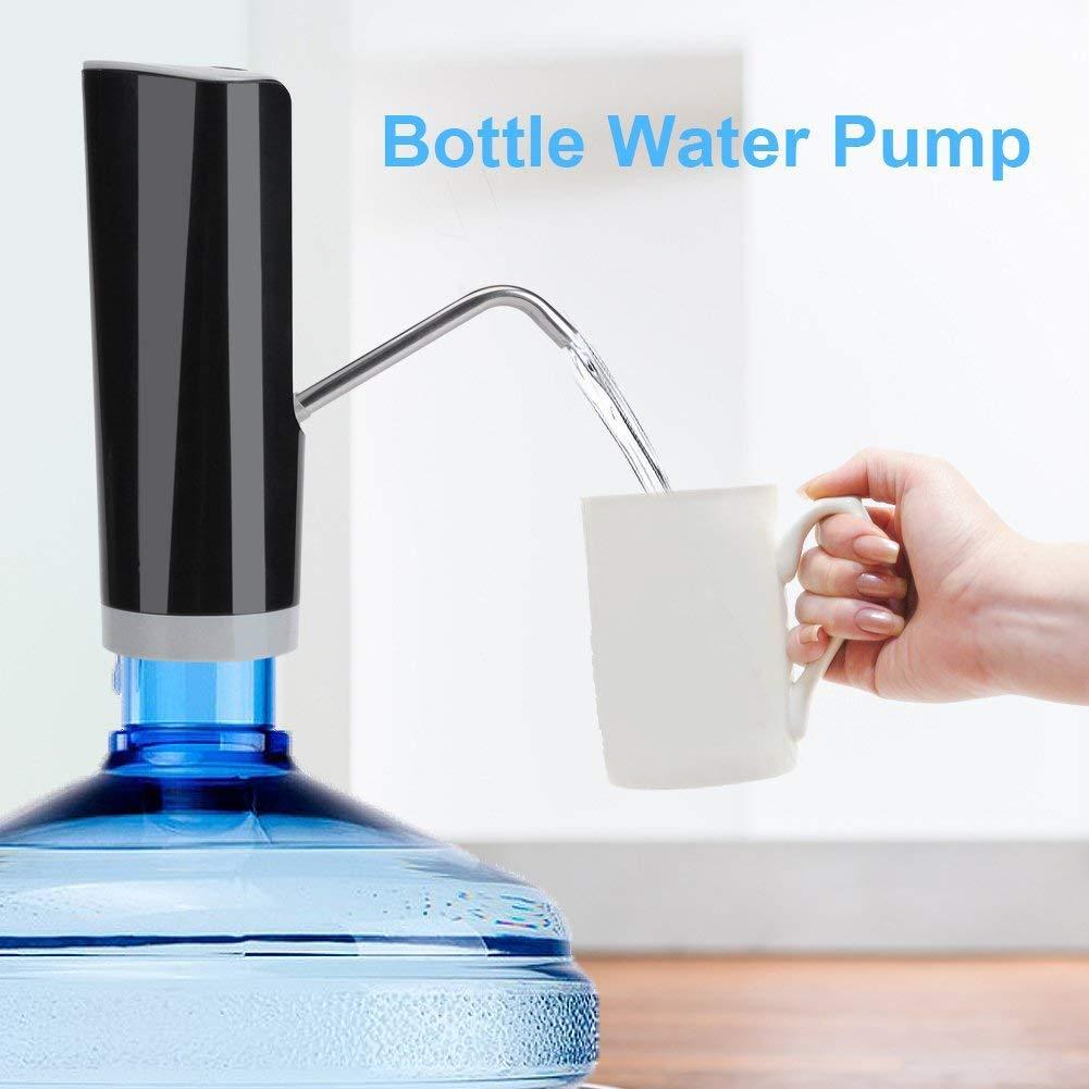Compra Yosoo Eléctrica inalámbrica automática dispensador de Agua Potable Bomba Dispenser Botella Botella de Agua Bomba Filtro Top Interruptor Funciona con ...