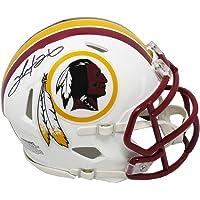 $85 » Clinton Portis Signed Washington Redskins Flat White Matte Riddell Speed Mini Helmet