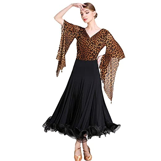 YUEZHIMEI Baile de salón Traje de Baile de Swing de Dama ...