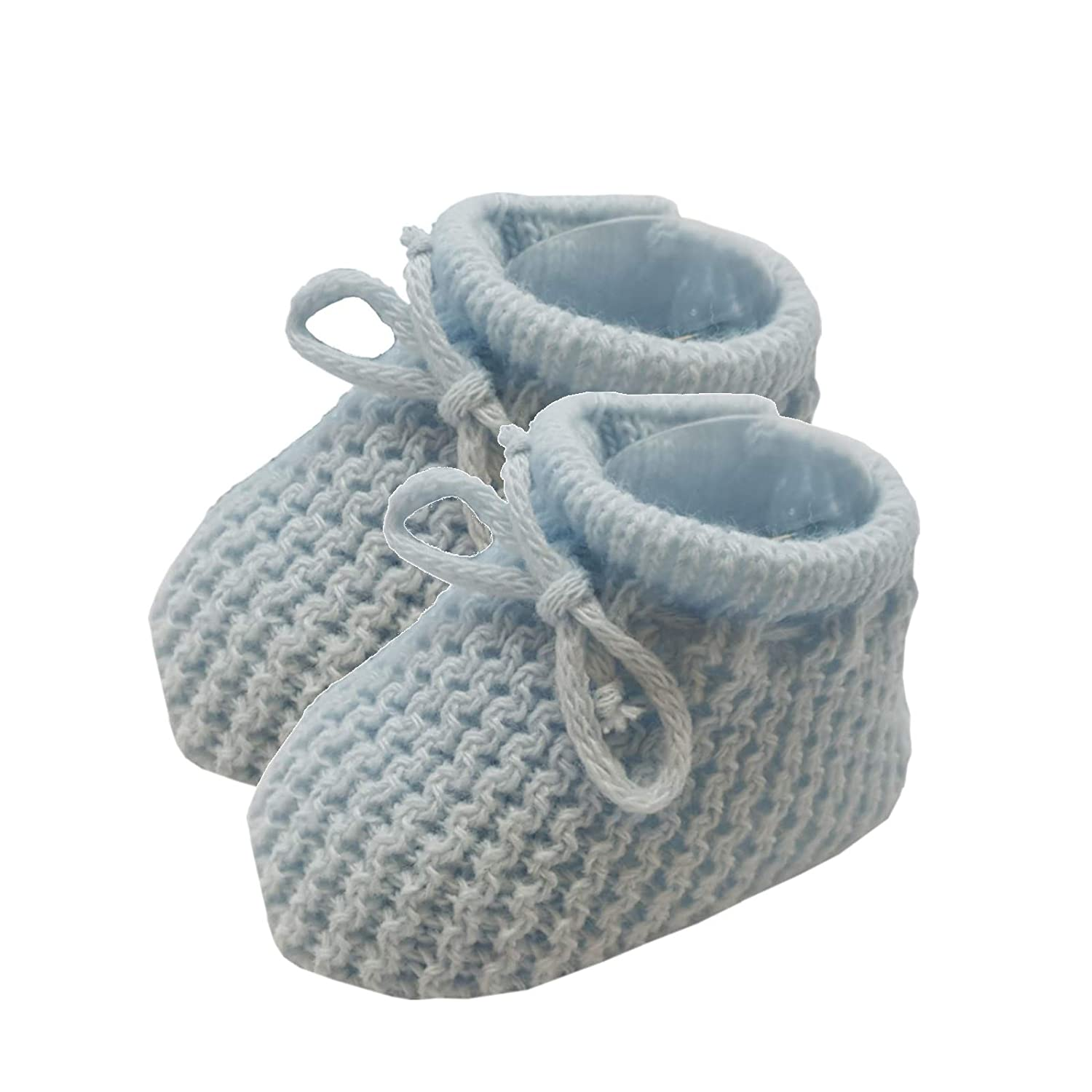 d78c4a25517fd Soft Touch Baby Booties Knitted Newborn Bootees Size 0-3 Months Pink White  Cream or Blue