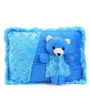 Tickles Blue Beautifully Dressed Teddy Bear Cushion Soft Stuffed Soft Plush Toy 38 cm