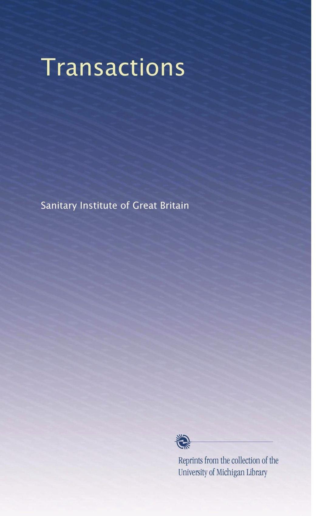 Download Transactions (Volume 7) ebook