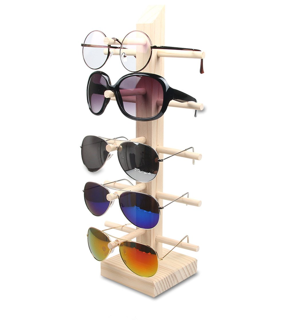 a6934d70f00 Amazon.com  Wooden Sunglass Eyeglass Frame Rack Display Counter Stand  Holder Organizer 3 4 5  Layer (5 Layer)  Home   Kitchen