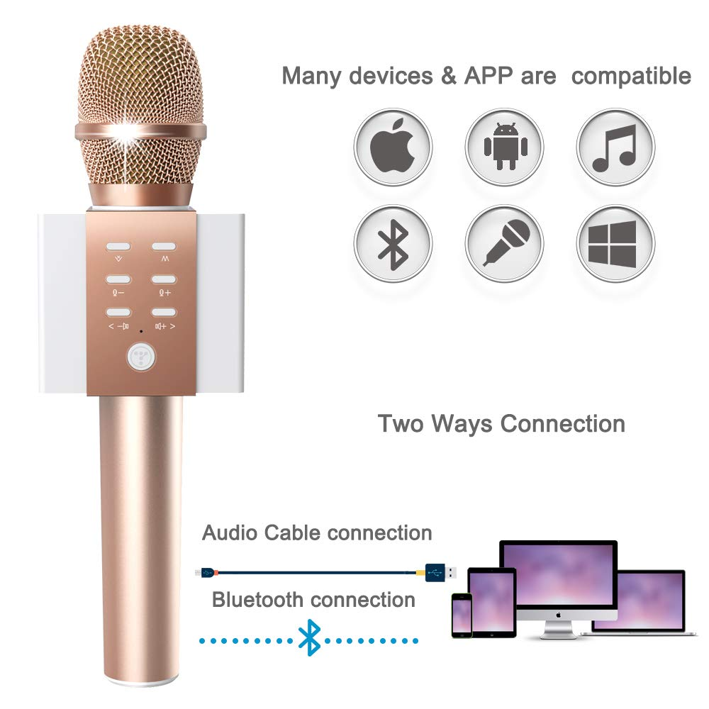 TOSING Wireless Karaoke Microphone, Louder Surrounding Stereo, Bluetooth Handheld Portable Karaoke Machine, Top Birthday Easter Gifts Ideas for Teens and Adults, Compatible with iPhone Android Phones by TOSING (Image #3)