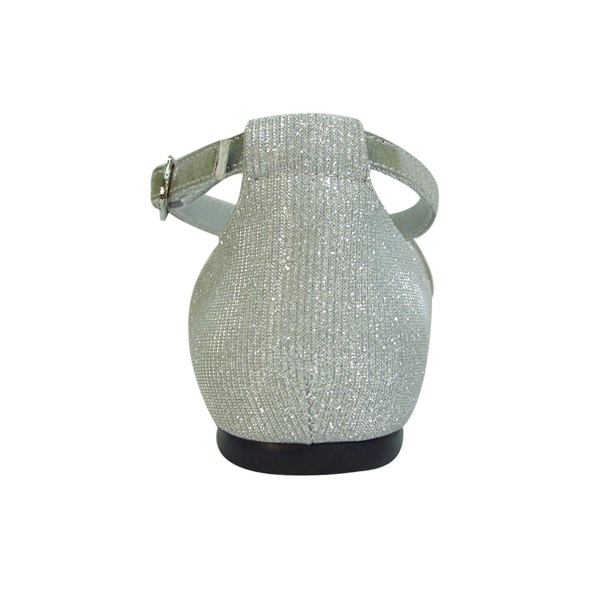 Fuzzy Hallie Women Wide Width Open Shank Pointed Toe Buckle Ankle Strap Flats (Size & Measurement) B0773VWYJ6 7.5 D|Silver