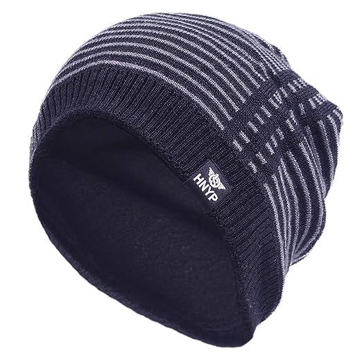 73af0a9848d Janey Rubbins Sports Winter Soft Knit Beanie Hat Warm Fleece Lined Skull  Ski Cuff Stocking Cap (