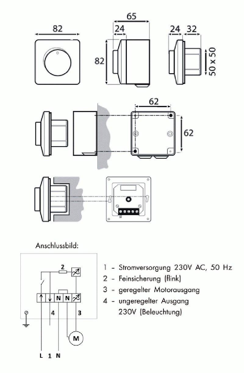Drehzahlregler stufenlos Typ AREB 2,5 A 230 V: Amazon.de: Baumarkt