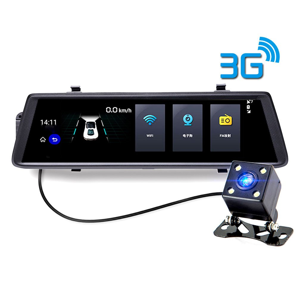 3G Car Camera DVR GPS Bluetooth 10 Inch Dual Lens Rearview Mirror Video Recorder Full HD 1080P Automobile DVR Mirror Dash cam