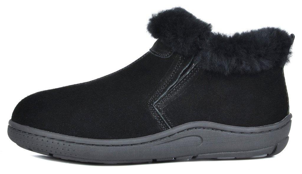 DREAM PAIRS Women's Huggie-01 Black Sheepskin Fur Winter House Slippers - 8.5-9 M US by DREAM PAIRS (Image #2)