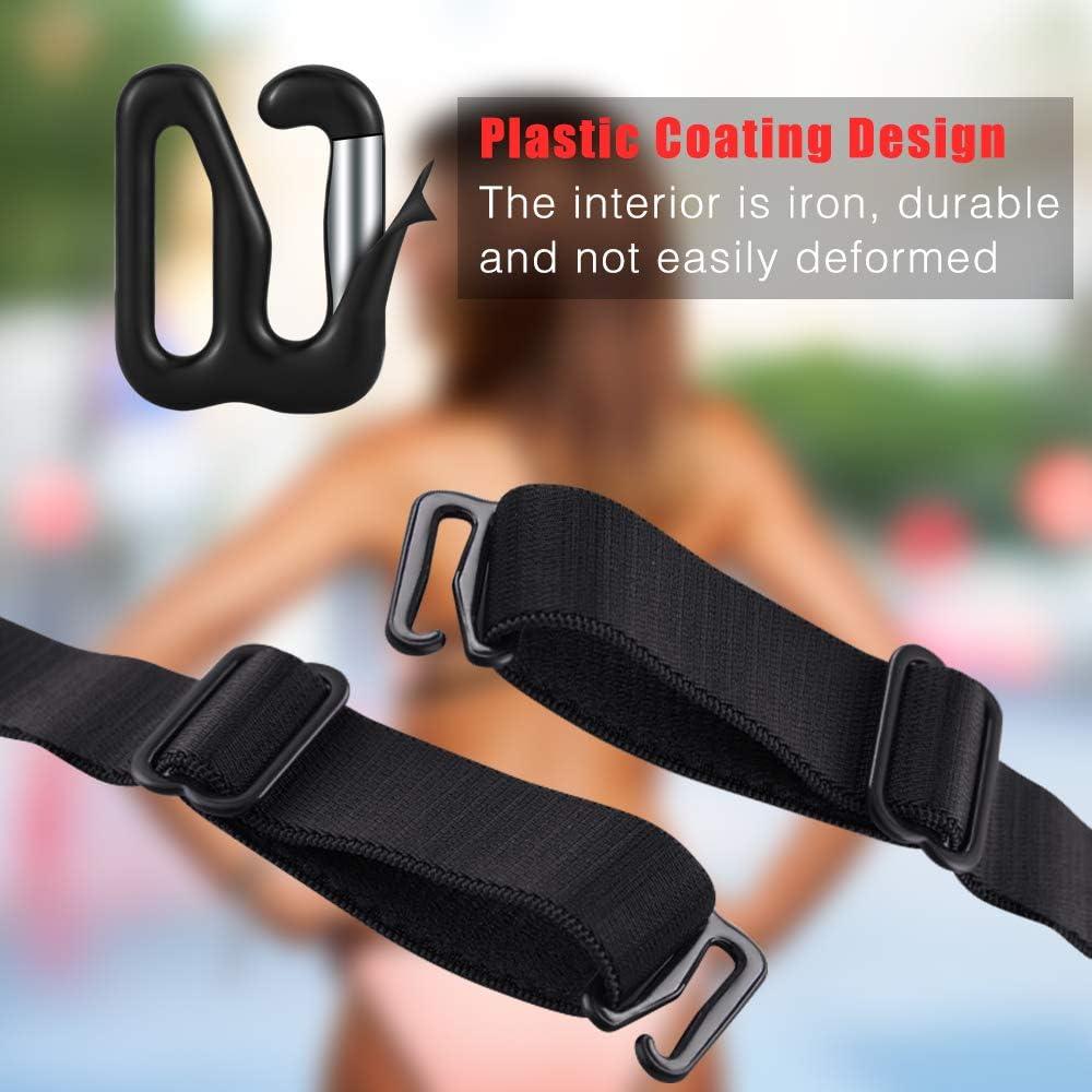 Set Black Strip Bow Tie Assembly Hardware Metal Adjuster Hook Slide Buckle