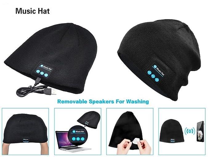 More Knitting Wheel Fashions : Amazon.com: xikezan unisex bluetooth beanie w mouth mask winter