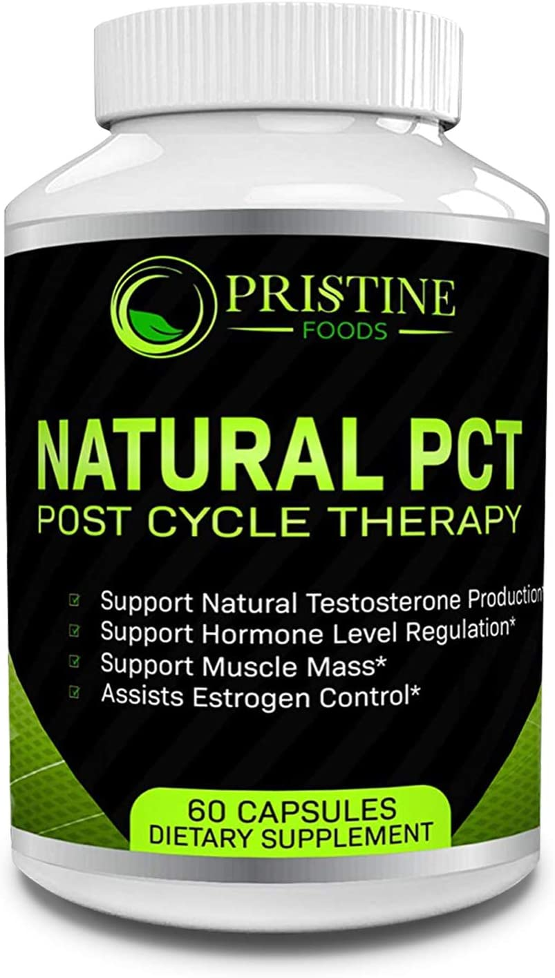 Pristine Foods Premium Natural PCT | Supports Natural Testosterone Production Regulates Hormone Levels Increase Muscle Mass | Post Cycle Therapy Supplement with Resveratrol Fenugreek Milk Thistle: Health & Personal Care