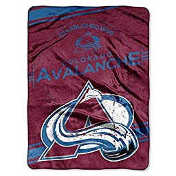 NHL Colorado Avalanche Stamp Plush Raschel Blanket, 60\