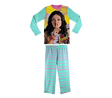 2d0d964b0e2a1 MEDIA WAVE store 826329 Pyjama Enfant pour Fille imprimé Soy Luna en Coton  Chaud de 6