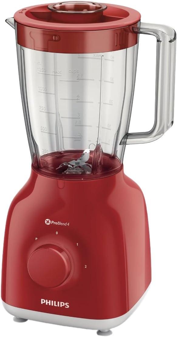 Philips HR2105/50 - Batidora de vaso, 400 W, color rojo: Amazon.es ...