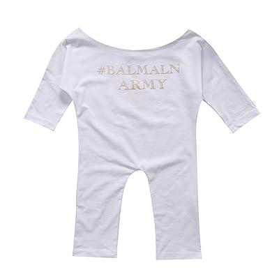 ec989e9fa329 GSHOOTS Newborn Infant Baby Girls Clothes Long Sleeve Off Shoulder Romper  Jumpsuit