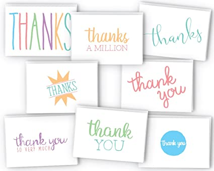 Amazon Com Everyday Colorful Thank You Cards 48 Cards