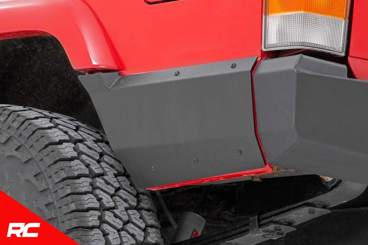 Rough Country Rear Lower Quarter Panel Armor Compatible w// 1997-2001 Jeep Cherokee XJ Rear 10571