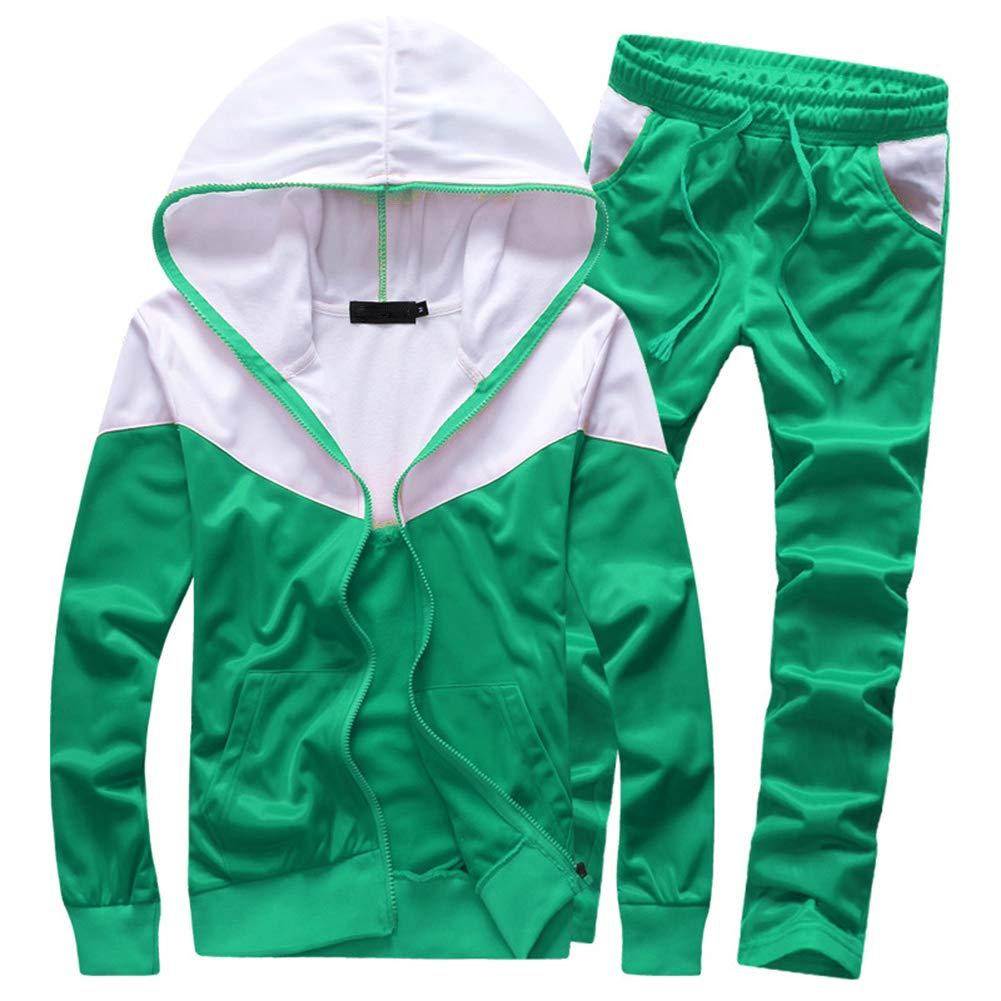 MACHLAB Men's Tracksuit 2 Piece Jacket & Pants Warm Jogging Athletic Suit Casual Full Zip Sweatsuit Gym Activewear Mint Green L by MACHLAB