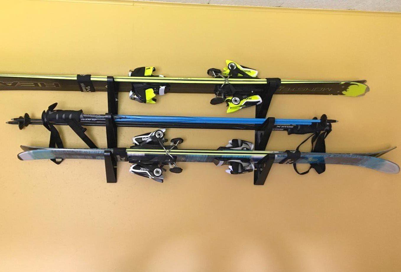 StoreYourBoard Ski Storage Rack, Horizontal Wall Rack