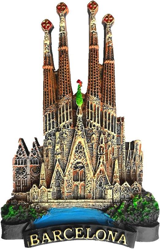 Imán de nevera Jian Ai 3D de Barcelona (España) para recuerdo de ...