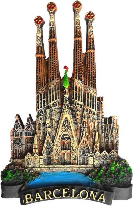 Imán de nevera Jian Ai 3D de Barcelona (España) para recuerdo de Barcelona o decoración del hogar y la cocina: Amazon.es: Hogar